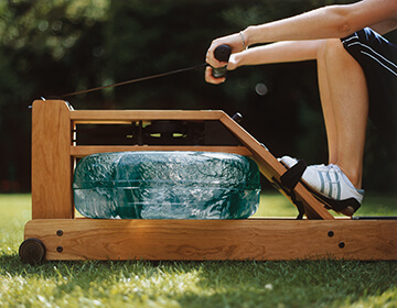 Rudergerät Test Waterrower Kirsche
