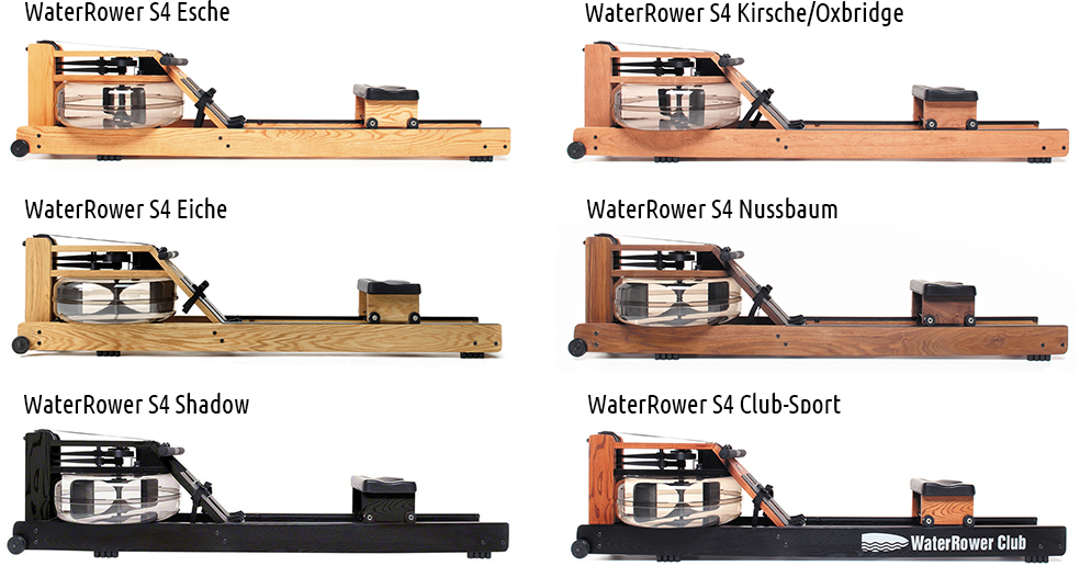 WaterRower S4 Alle Modelle
