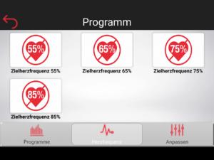 Cardiofit Herzfrequenz Programme