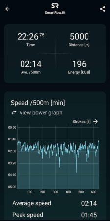 SmartRow Speed